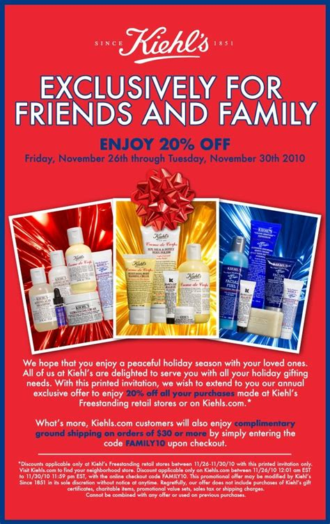 Friends And Family Discount At Prescriptives by Kiehl S Friends And Family Discount 15 Minute Fanatic