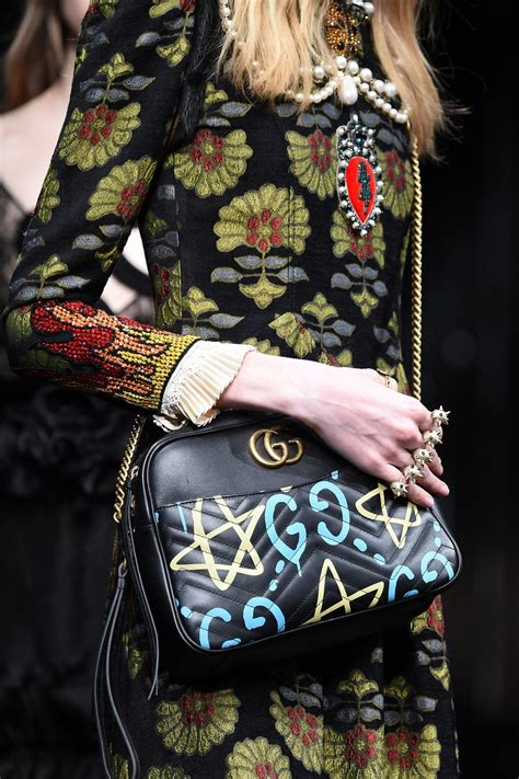 pictures   gucci ghost fall  graffiti bags