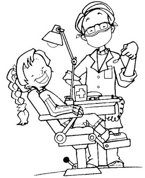 coloring pages doctor visit dentist coloring pages bestofcoloring com