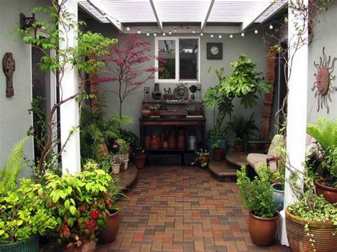 small courtyard design outdoor exterior garden simple small brick courtyard