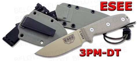 Swiss Army Hardmika Dt esee model 3 desert rounded pommil foliage green sheath clip plate 3pm dt