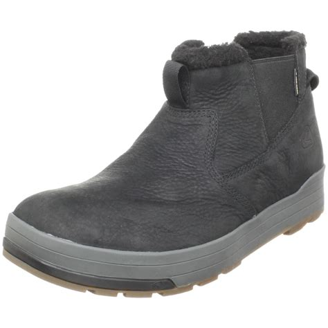 keen mens alta mid waterproof casual boot in black for
