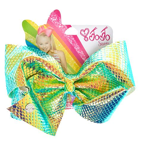 Jojo Siwa Bow By Timorashop jojo siwa large iridescent signature hair bow s