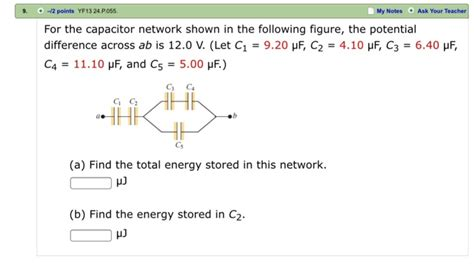 for the capacitor network shown in the figure figure 1 for the capacitor network shown in the following f chegg