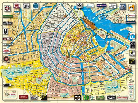netherlands coffeeshop map map of amsterdam the netherlands