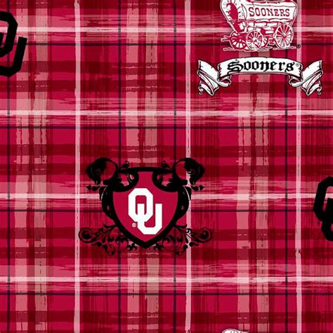 Oklahoma Upholstery by Of Oklahoma Sooners Ou Cotton Fabric 1 Yard Sports
