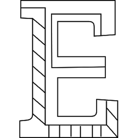 alphabet coloring pages uppercase uppercase e coloring page