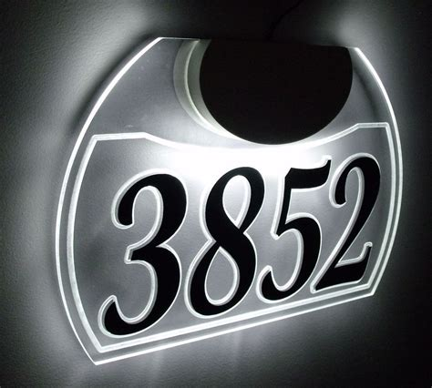 Search House History By Address Edge Lit Custom Led Lighted Acrylic Address Sign Luminous House Address Number Ebay