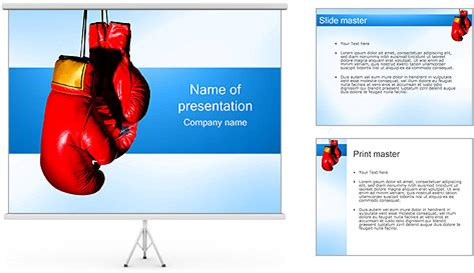 Boxing Gloves Powerpoint Template Backgrounds Id 0000001503 Smiletemplates Com Boxing Templates Free