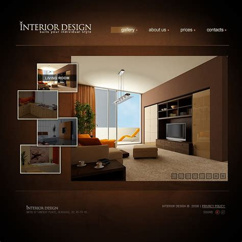 Interior Design Flash Template 19551 Interior Design Website Templates