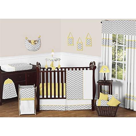 Sweet Jojo Designs Zig Zag Chevron 11 Piece Crib Bedding Crib Bedding Yellow