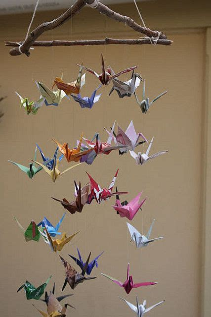 Origami Crane Wish - paper crane mobile for the new baby i wish my great