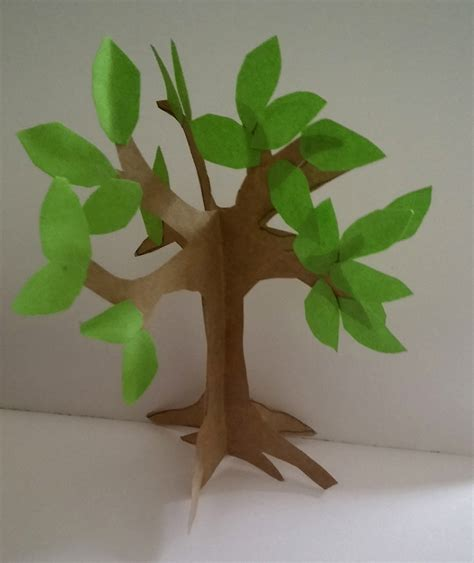 How To Make A Paper Tree For - how to make an easy paper craft tree imagine forest