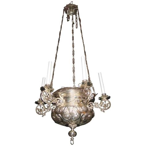 Unique Antique French Moorish Style Silvered Bronze Multi Antique Looking Chandeliers
