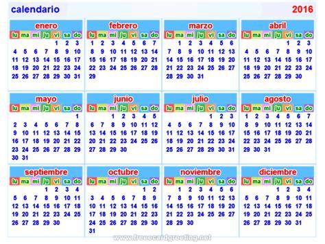 printable calendar 2016 spanish calendario2016