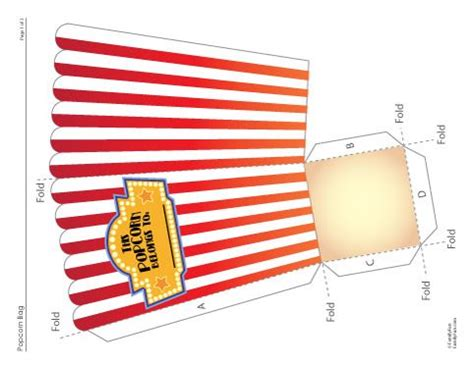 printable template popcorn box free printable foldable popcorn holder for family movie