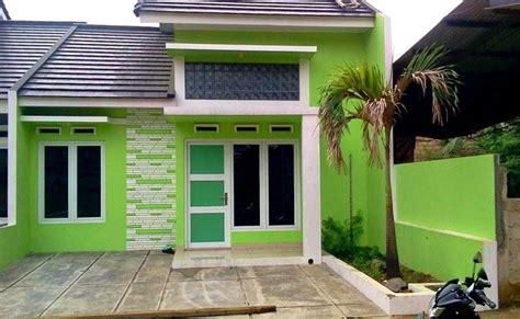 cat exterior rumah minimalis warna hijau rumah desain