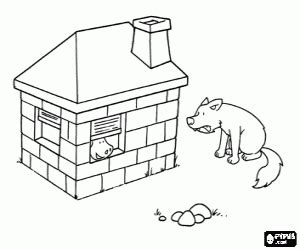brick house coloring page three little pigs coloring pages printable games
