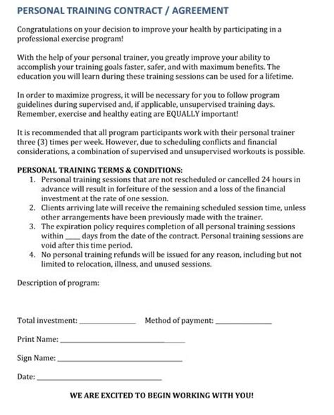 Last Minute Cancellations How To Deal With Personal Training Clients Who Cancel The Workout Waiver Template