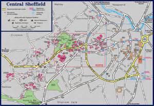 sheffield map central sheffield map sheffield mappery