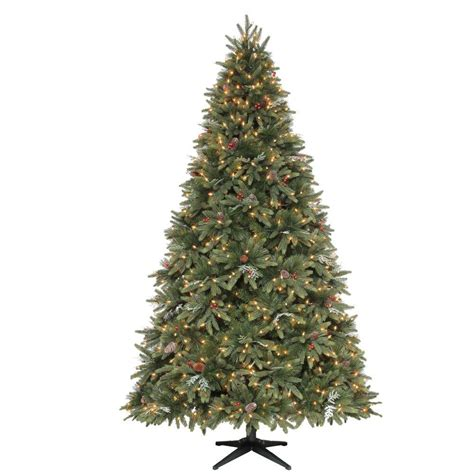 staylit christmas trees martha stewart living 9 ft andes fir set slim artificial tree with 900 clear