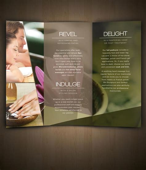 salon brochure 30 exles of spa brochure designs jayce o yesta