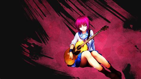 anime girl with guitar wallpaper angel angel beats anime beats guitar masami iwasawa