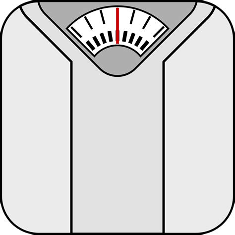 weighing scale template clipart bathroom scale