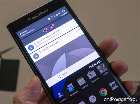 how to capture screen on android how to take a screenshot on the blackberry priv android central