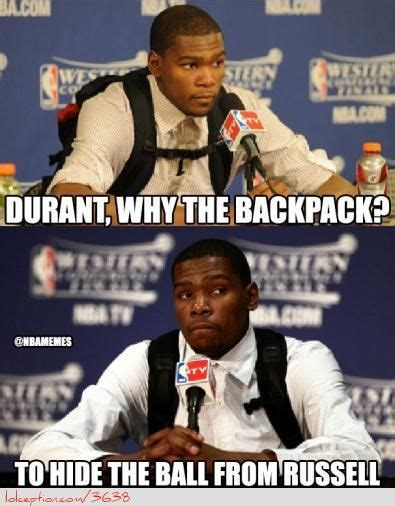 Durant Meme - the reason behind kevin durant s backpack http weheartmiamiheat com the reason behind kevin