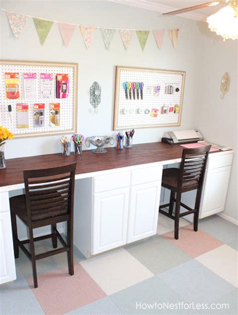 Diy Kitchen Desk 13 Amazing Craft Room Makeover S Happily After Etc
