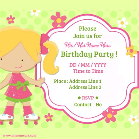 make birthday invitations online free birthday invitation card maker