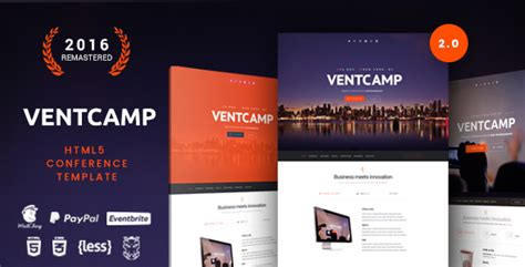 Ventc Event And Conference Template Jogjafile Conference Website Template Free
