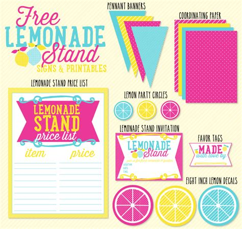 lemonade stand business plan template free lemonade stand signs and printables by the day