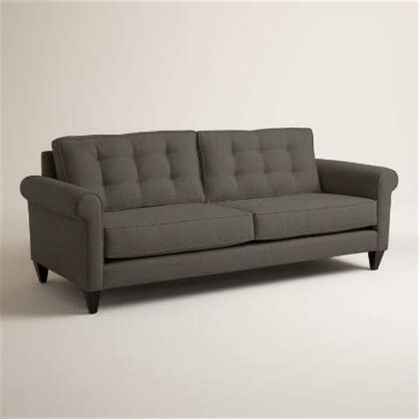 world market abbott sofa charcoal gray textured woven abbott sofa world market