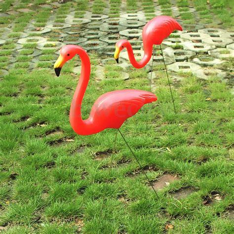 plastic flamingos 1 2pcs plastic red lawn flamingo s yard garden grassland