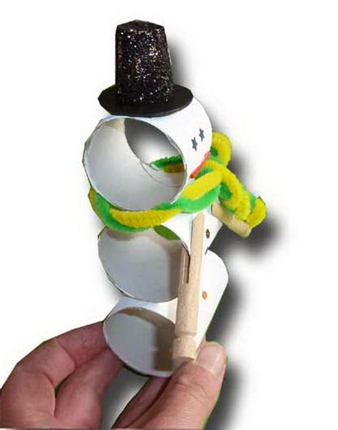 Toilet Paper Roll Snowman Craft - 150 toilet paper roll crafts hative