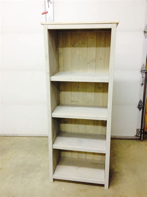 white 2nd project kentwood bookshelf diy projects