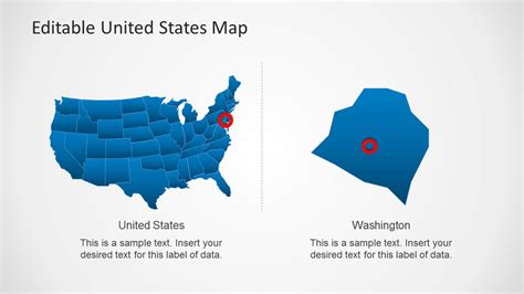 united states map template for powerpoint slidemodel