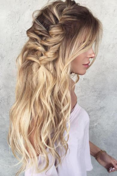 Beachy Waves Wedding Hairstyles by Waves And Braids Hair Inspiration