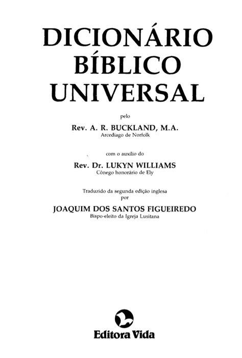 Buckland dicionário bíblico universal