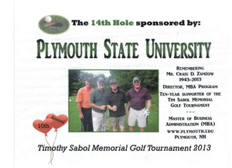 Plymouth State Mba by Da Da Da Da Goes On Golfing For Craig And Tim