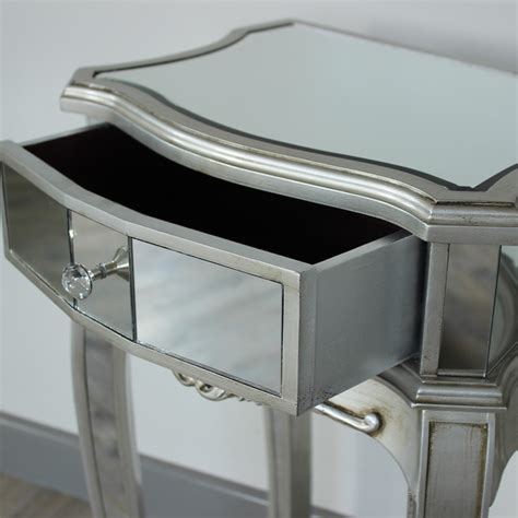 mirrored bedside table silver mirrored bedside table range melody maison 174