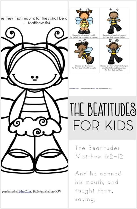 beatitudes coloring pages download the beatitudes for kids printable pack