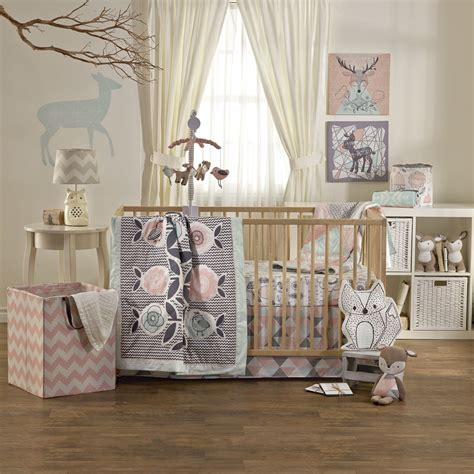 Nursery Curtains And Bedding Living 63 4 Sparrow Crib Bedding Set Modernnursery