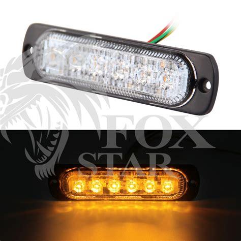 amber led strobe lights high quality 6 led car emergency beacon light bar 3w amber