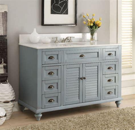 Cottage Bathroom Vanity Glennville 49 Quot Cottage Bathroom Vanity Cabinet Set In Light Blue Gd28328bu Ebay