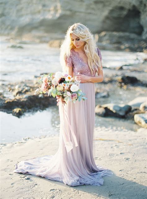 Bridal Shoot Pictures by Picture Of Ethereal Seaside Bridal Shoot With A Lavender