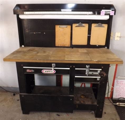 craftsman work bench saratoga auto repair tire depot auction elco auctions