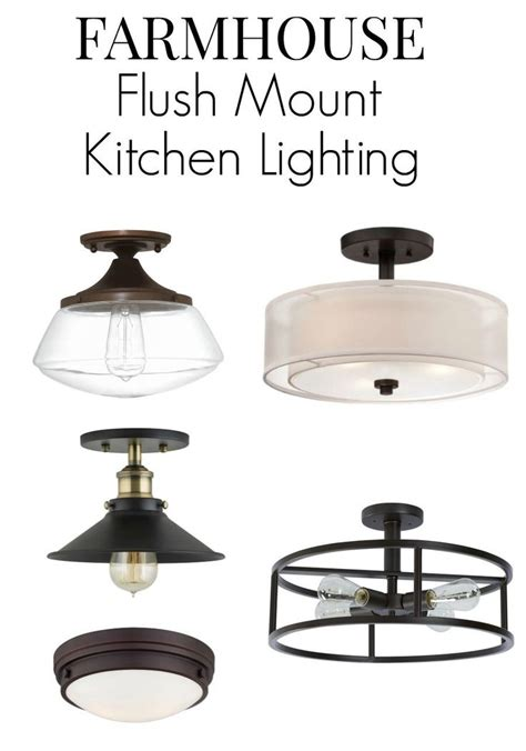 flush mount kitchen light farmhouse kitchen lighting ideas farmhouse style